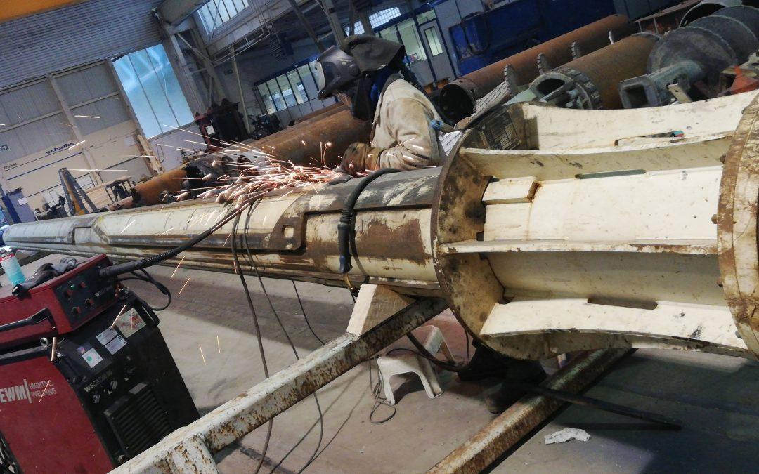 Reparatur eigener Kellystange für BAUER BG33H