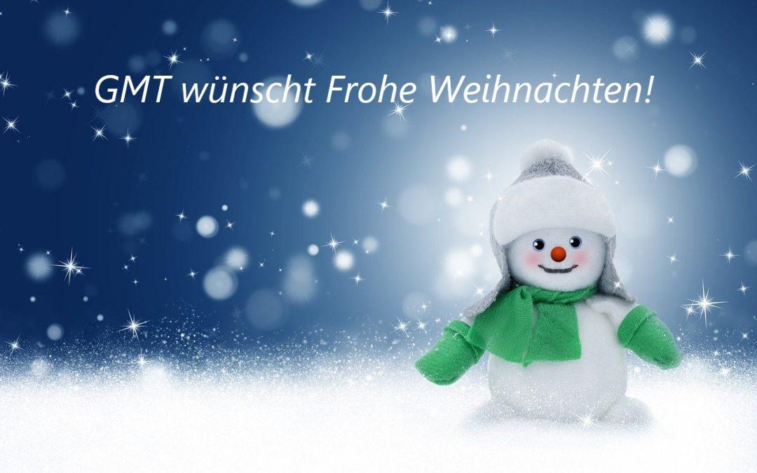 Herzliche Weihnachtsgrüße vom GMT-Team