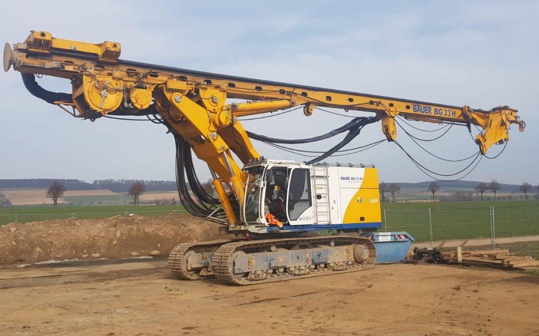 Unsere BAUER BG33H vor der Umsetzung auf den neuen Bauabschnitt
